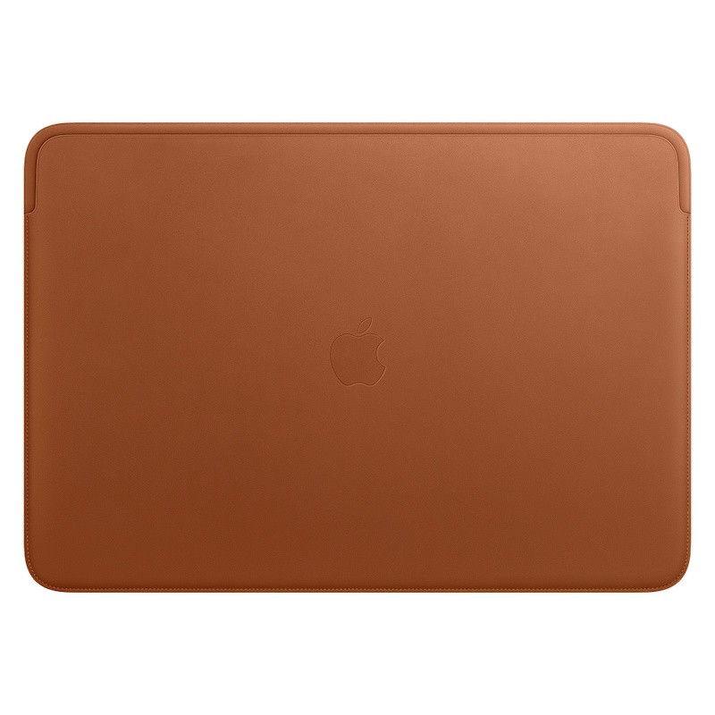 Pasta em pele para MacBook Pro de 16 polegadas – Castanho-sela