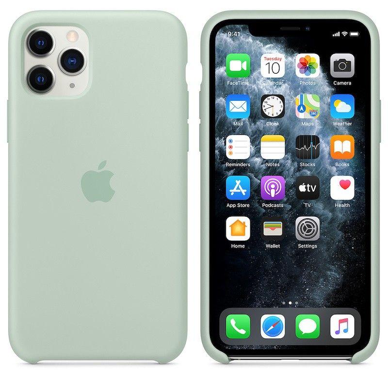 Capa para iPhone 11 Pro em silicone - Azul berilo