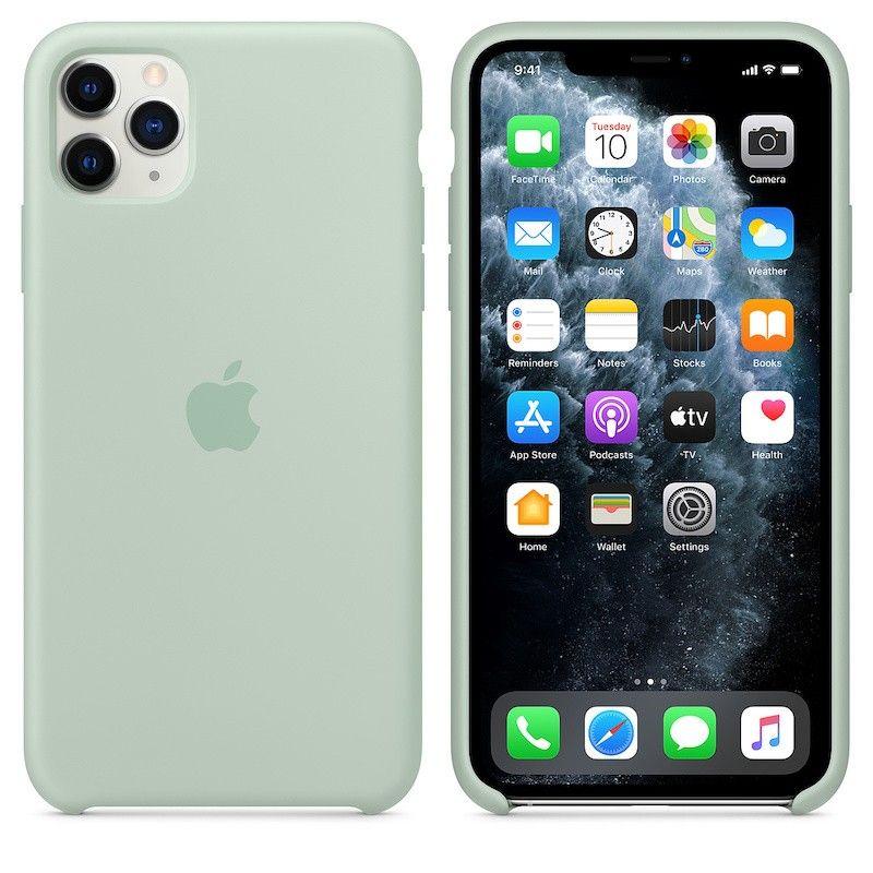 Capa para iPhone 11 Pro Max em silicone - Azul berilo