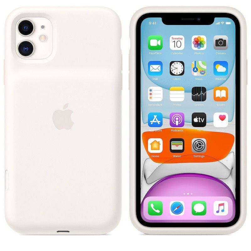 Capa com  bateria Apple para iPhone 11 - Branco-suave