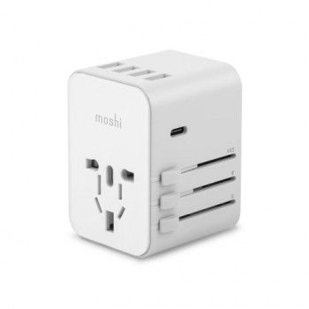 Adaptador World Travel com USB-C Moshi