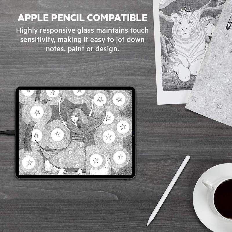 Película de vidro temperado ScreenForce para iPad 7 geração / Air 2019