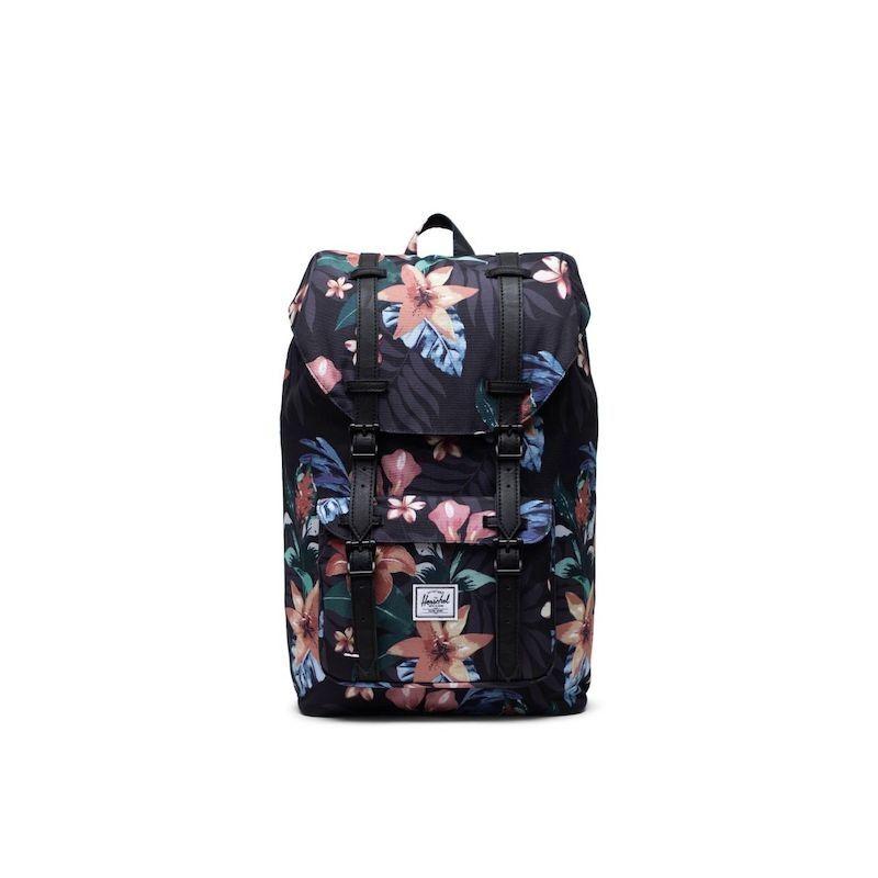 Mochila Herschel Little America Mid-Vol (17L) - Summer Floral Black