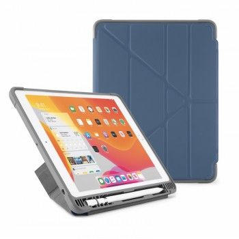 Capa para iPad 10,2 (2019) Origami Pencil Shield - Azul