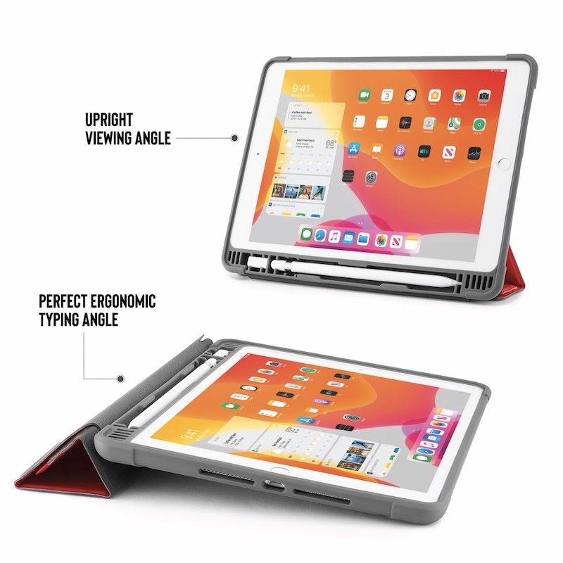 Capa para iPad 10,2 (2019) Origami Pencil Shield - Vermelha