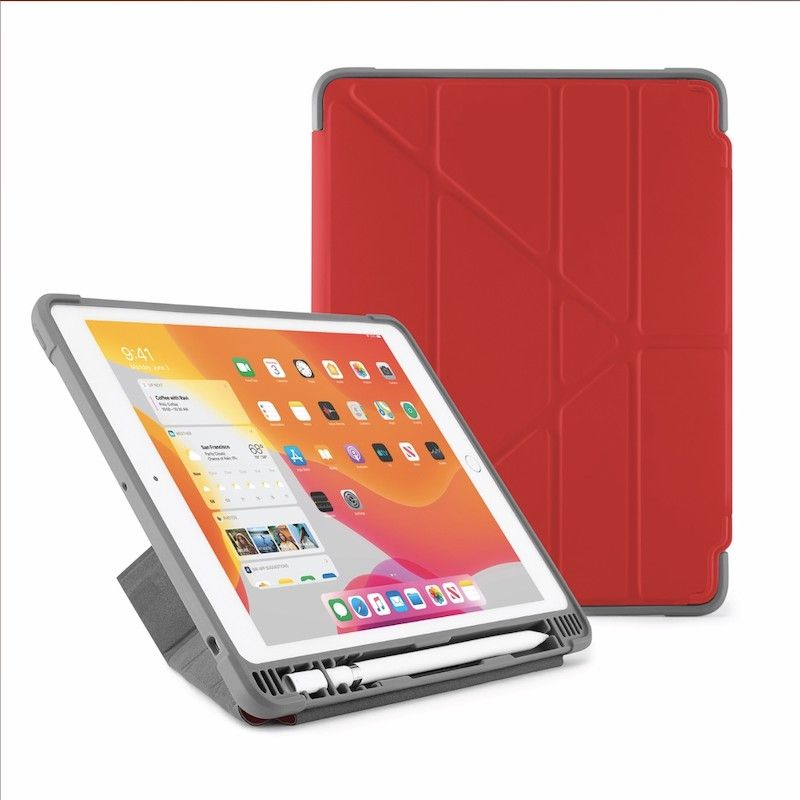 Capa para iPad 10,2 (2019) Origami Pencil Shield - Vermelha
