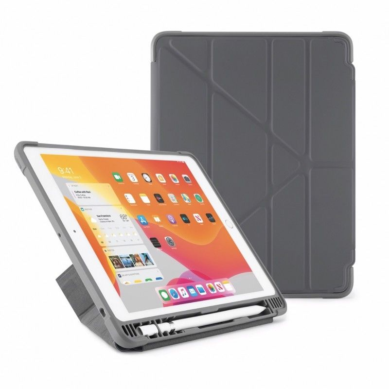 Capa para iPad 10,2 (2019) Origami Pencil Shield - Cinza