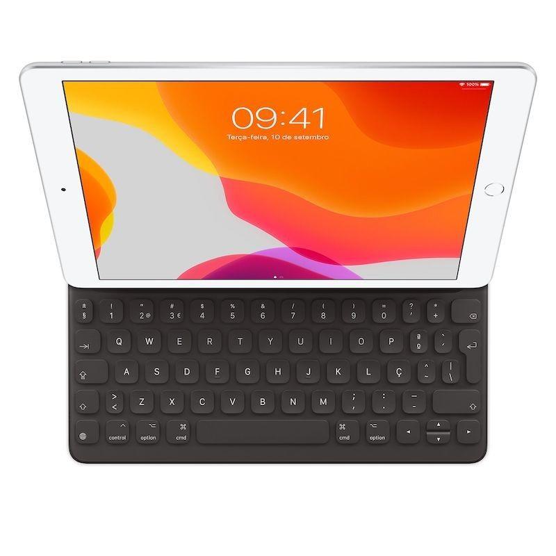 Capa com teclado Smart Keyboard para iPad Pro, Air e iPad (*)