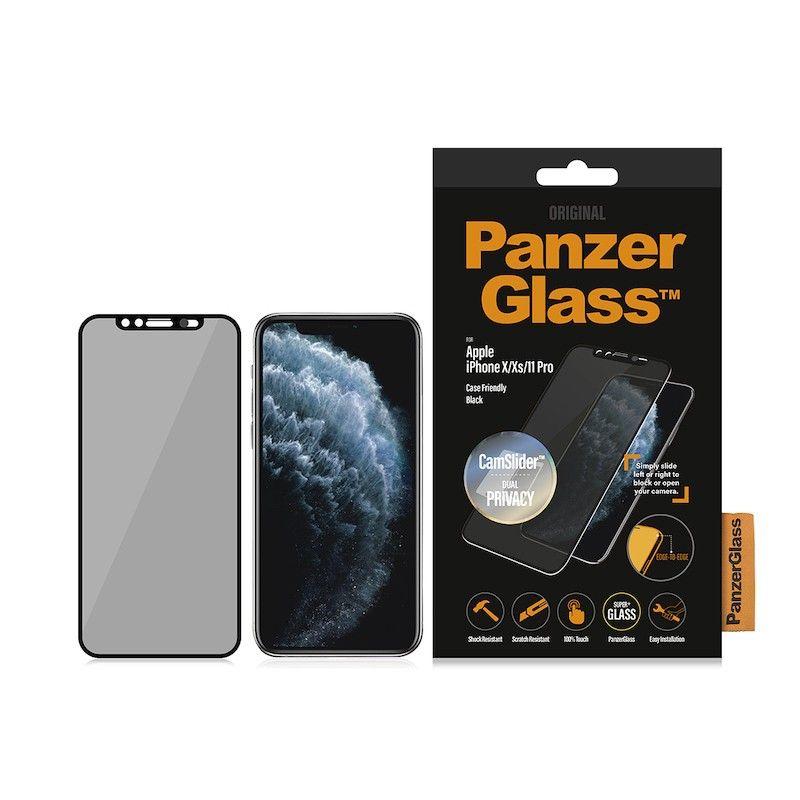 Película de proteção e privacidade para iPhone X/Xs/11 Pro PanzerGlass CF CamSlider