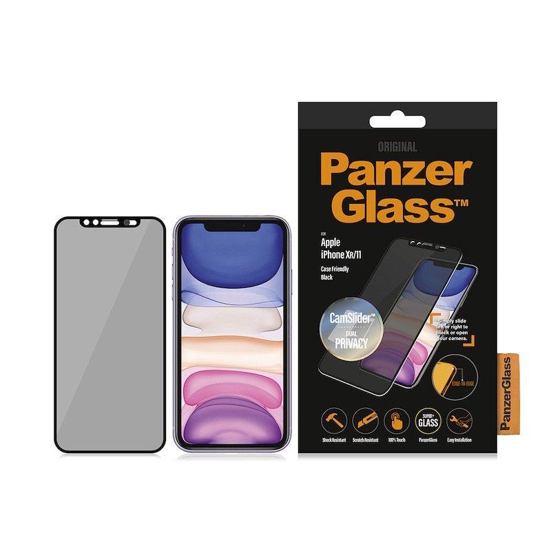 Película de proteção e privacidade para iPhone XR/11 PanzerGlass CF CamSlider