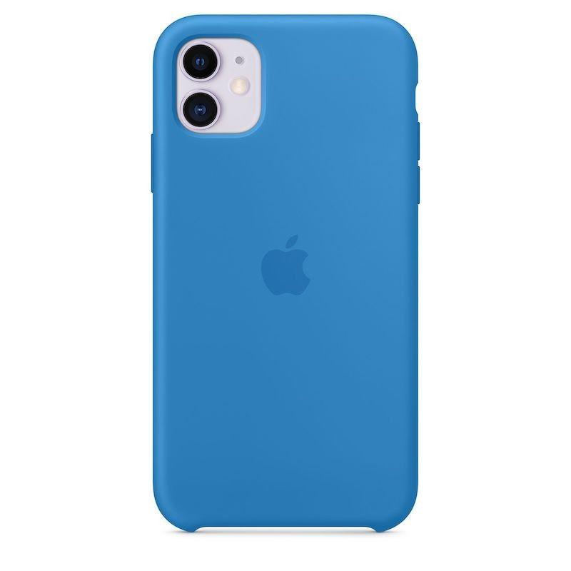 Capa para iPhone 11 em silicone - Azul-surf