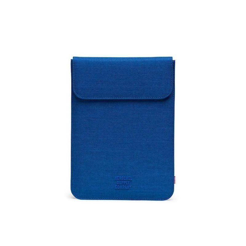 """Sleeve Herschel Spokane MacBook 13 USB-C"""" - Monaco Blue Crosshatch"""