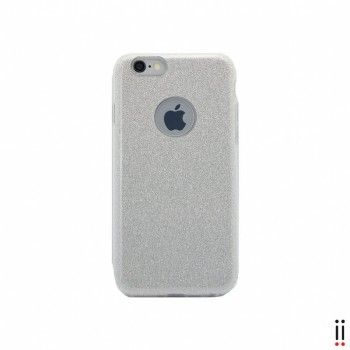 Capa para iPhone 7 Aiino Glitter Case - Silver