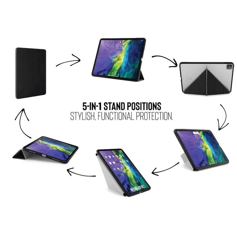 Capa iPad Pro 11 (2020) Pipetto Origami Case Black