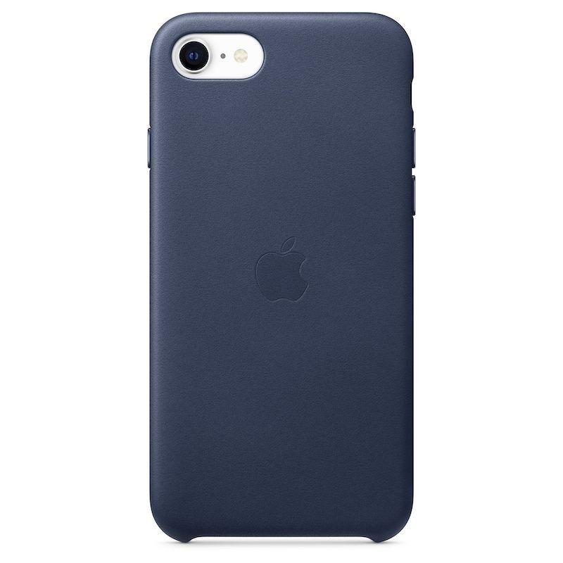 Capa em pele para iPhone SE - Azul meia-noite