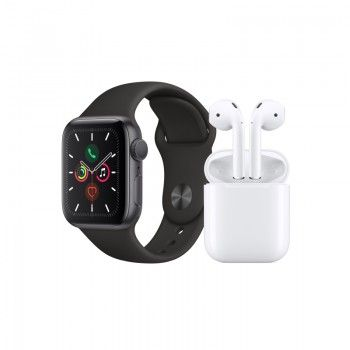 Conjunto composto por Apple Watch 5 40 cinzento sideral e AirPods