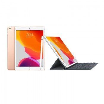 Conjunto composto por iPad 10,2 dourado+ Apple Pencil + Smart Keyboard