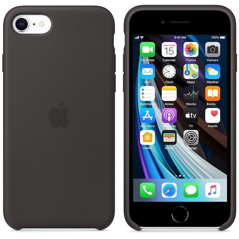 Capa em silicone para iPhone SE - Preto