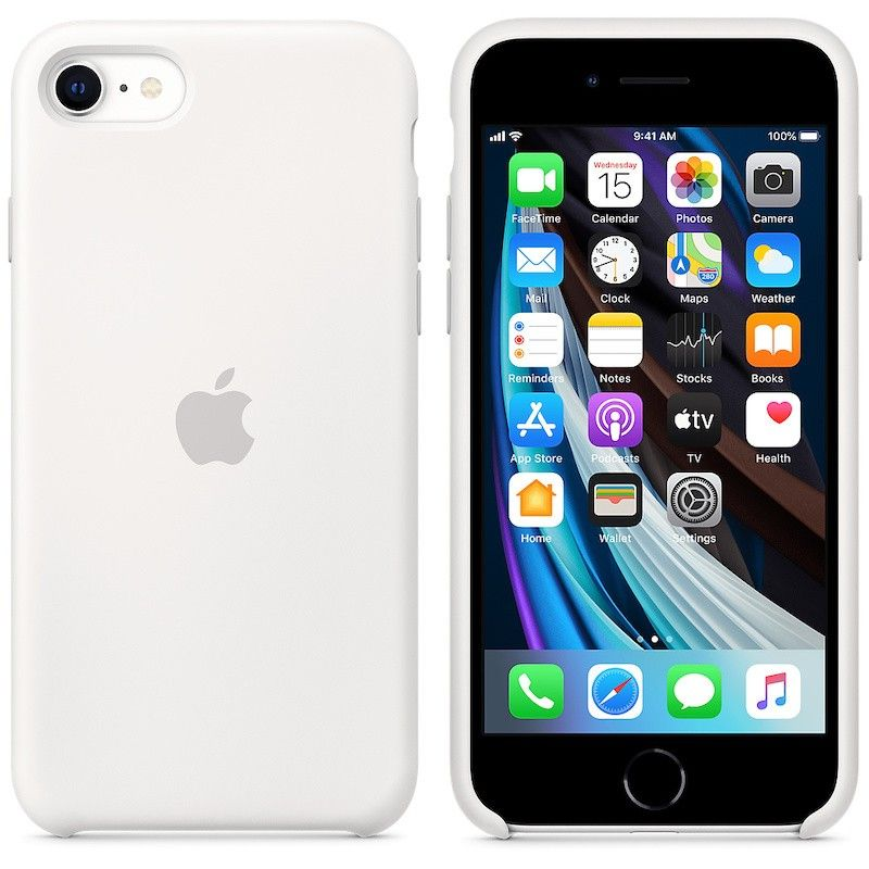 Capa em silicone para iPhone SE - Branco