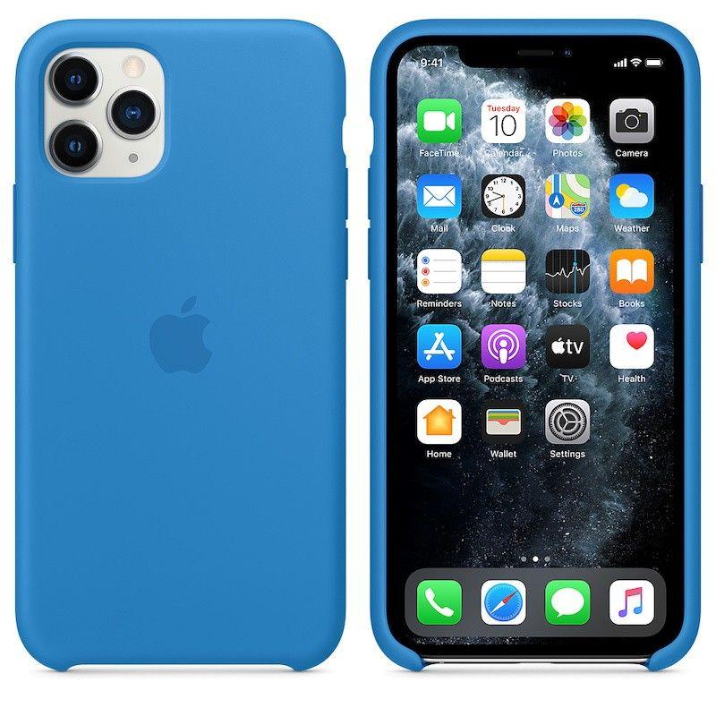 Capa para iPhone 11 Pro em silicone - Azul Surf
