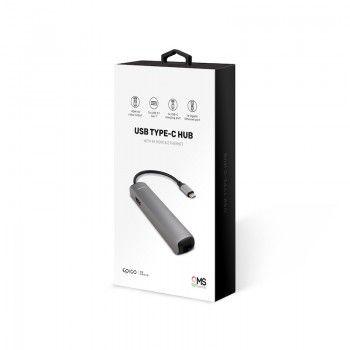 HUB USB Type-C GMS essentials Slim 4K HDMI e Ethernet - Space Grey