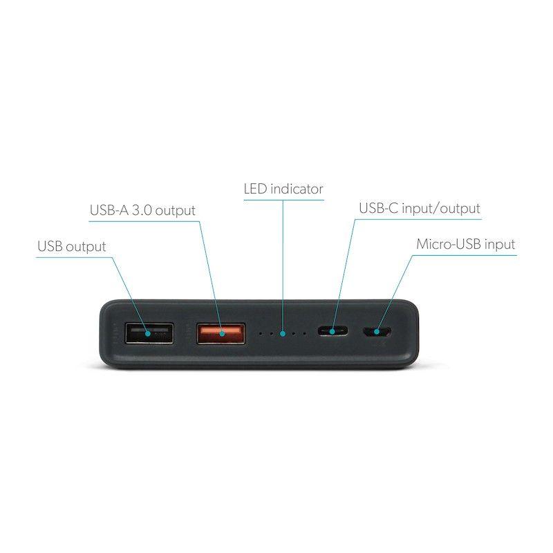Powerbank GMS essentials 30000 mAh E29 Space Grey