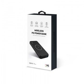 Powerbank GMS essentials Wireless PD 10000 mAh Black