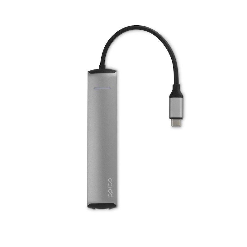 HUB USB Type-C GMS essentials Slim 4K HDMI e Ethernet - Silver
