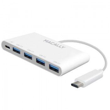 Adaptador Macally USB-C (4 x USB-A/USB-C)