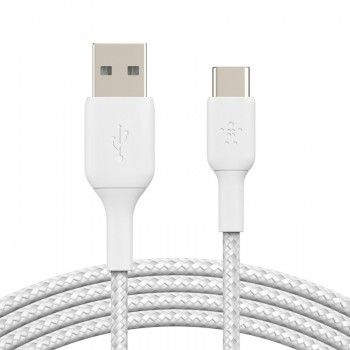 Cabo USB-A para USB-C Belkin BOOST CHARGE Braided 1 m Branco