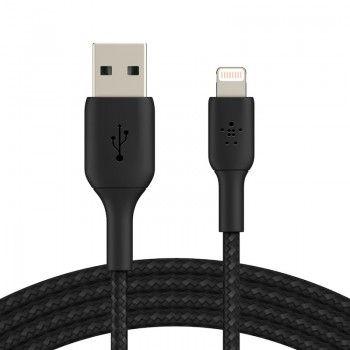 Cabo Lightning para USB-A Belkin Braided 1 m Preto
