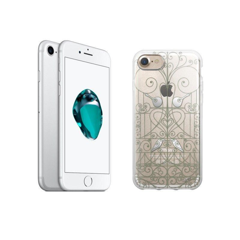 """Conjunto composto por iPhone 7 32GB - Prateado e capa Saudade 2 """"Ferro"""""""