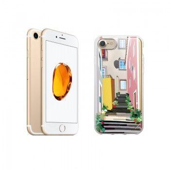 """Conjunto composto por iPhone 7 Dourado e capa Saudade 2 """"Escadas"""""""""""