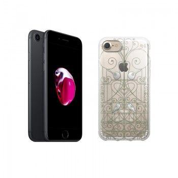 "Conjunto composto por iPhone 7 32GB - Preto e capa Saudade 2 ""Ferro"""