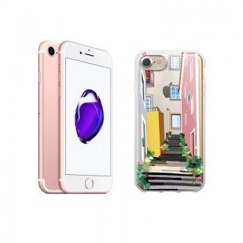 "Conjunto composto por iPhone 7 32GB -  Rosa Dourado e capa Saudade 2 ""Escadas"""""