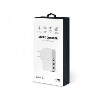 Carregador GMS essentials 41W PD 3 USB Branco