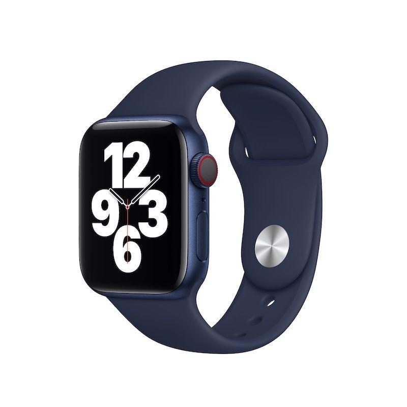 Bracelete desportiva para Apple Watch (44/42mm) - Azul profundo