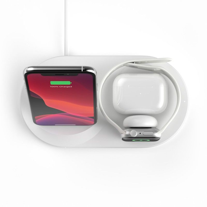 Base de Carregamento Wireless Belkin Boost Charge 3 em 1 Branco