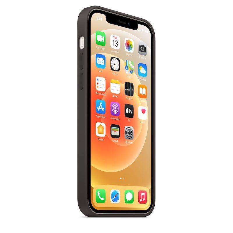 Capa para iPhone 12   12 Pro em silicone com MagSafe - Preto