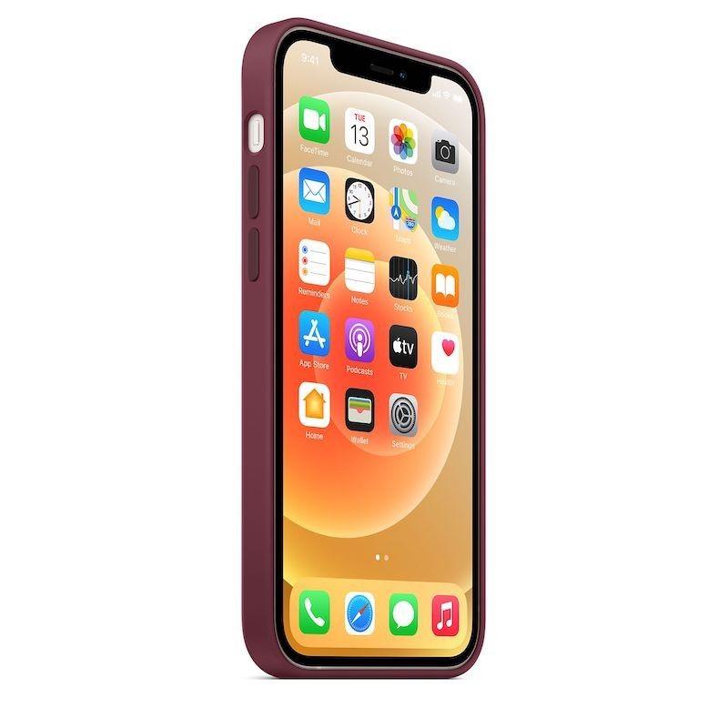 Capa para iPhone 12 | 12 Pro em silicone com MagSafe - Ameixa
