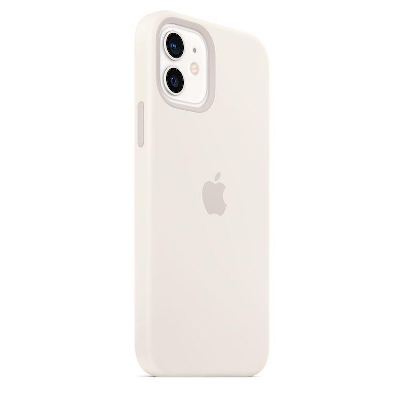 Capa para iPhone 12 | 12 Pro em silicone com MagSafe - Branco
