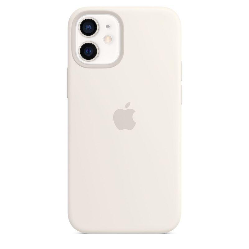 Capa para iPhone 12 mini em silicone com MagSafe - Branco
