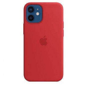 Capa para iPhone 12 mini em silicone com MagSafe - Vermelho (PRODUCT)RED