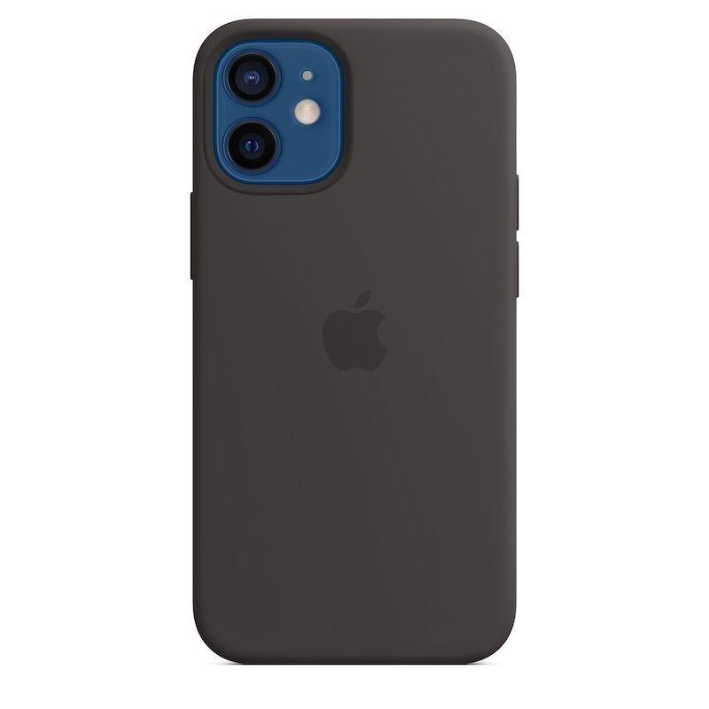 Capa para iPhone 12 mini em silicone com MagSafe - Preto