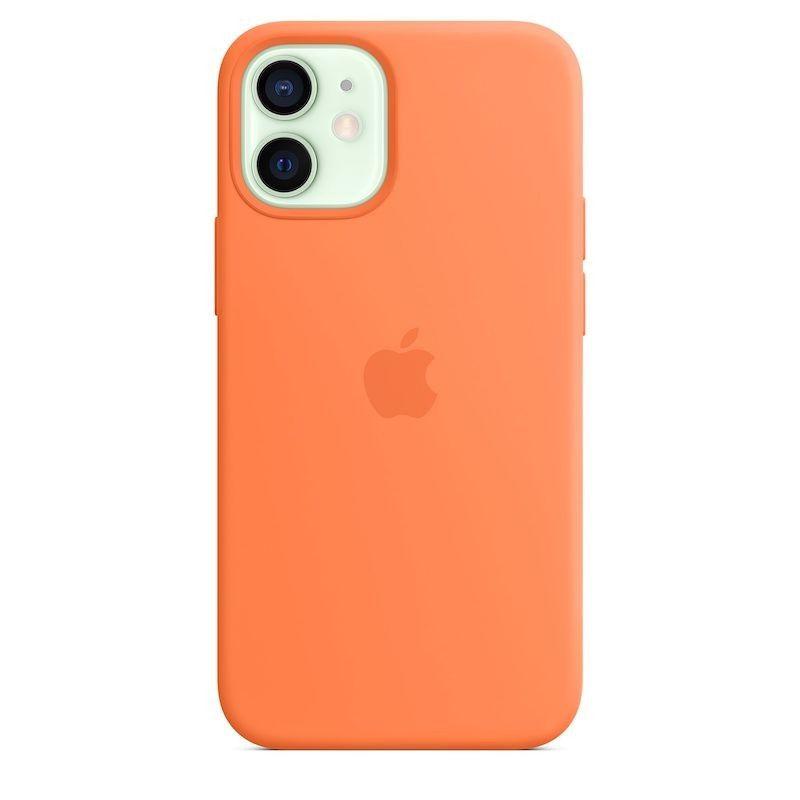Capa para iPhone 12 mini em silicone com MagSafe - Kumquat