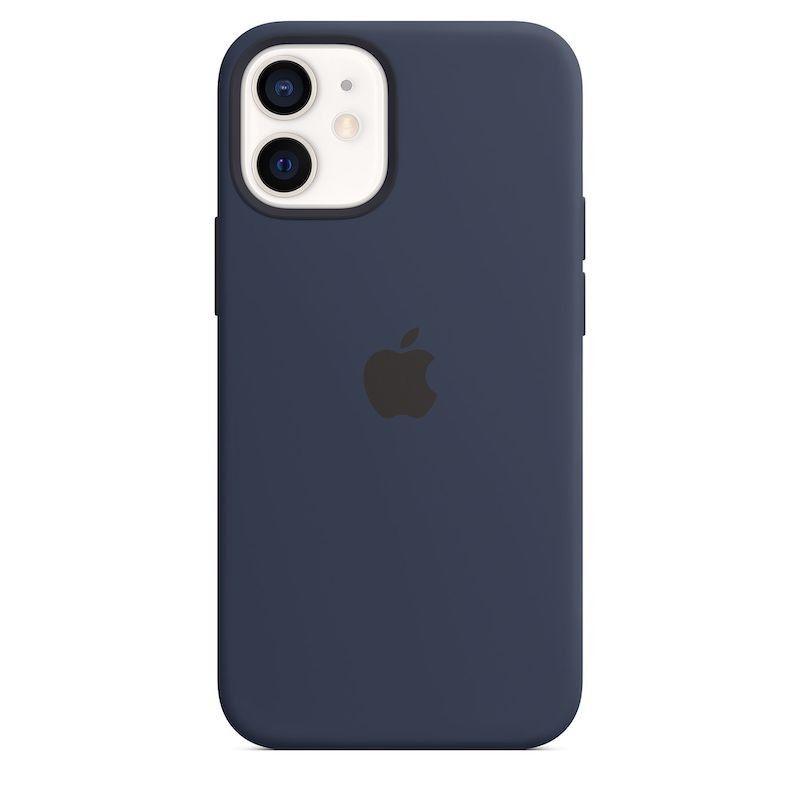 Capa para iPhone 12 mini em silicone com MagSafe - Azul profundo