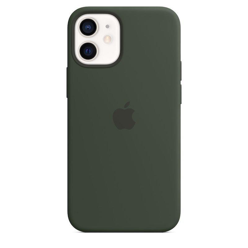 Capa para iPhone 12 mini em silicone com MagSafe - Verde Chipre