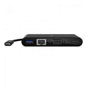 Adaptador Multimedia Belkin USB-C para HDMI/VGA/RJ45/USB-A 3.0