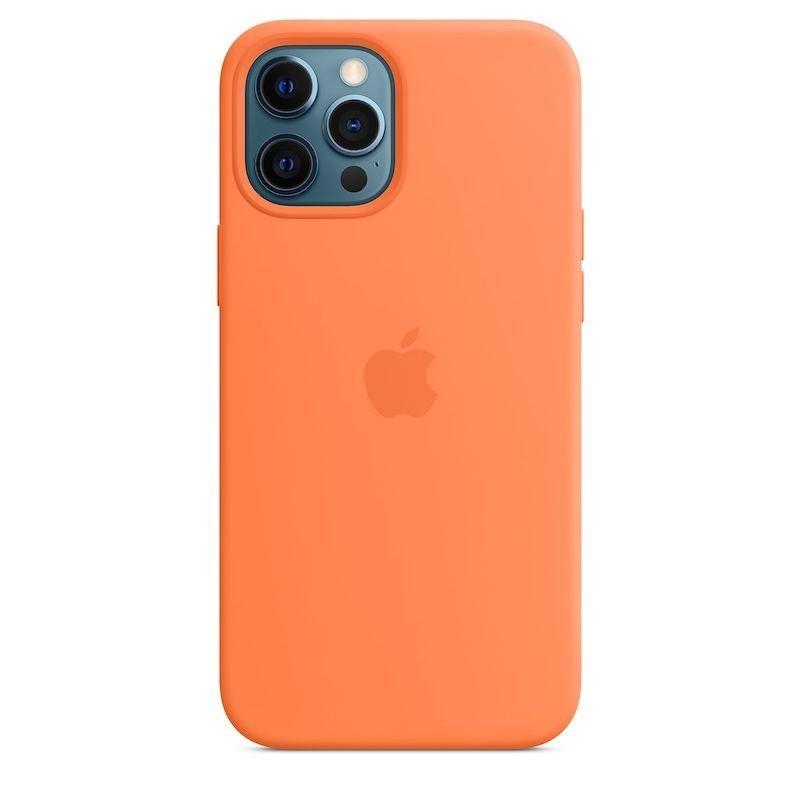 Capa para iPhone 12 Pro Max em silicone com MagSafe - Kumquat
