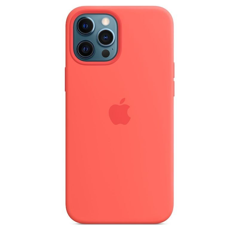 Capa para iPhone 12 Pro Max em silicone com MagSafe - Rosa cítrico